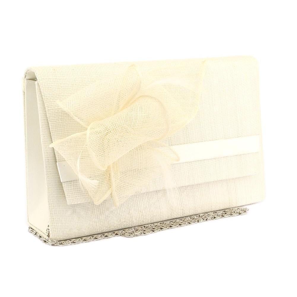 pochette mariage ivoire en sisal alexa - Pochette Mariage Ecru