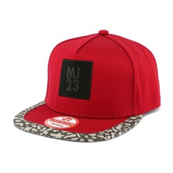 Snapback MJ 23 Rouge Panthère