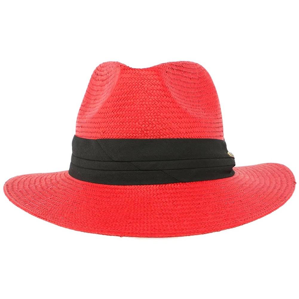 vente chapeau de paille rouge th o panama homme et femme livr 48h. Black Bedroom Furniture Sets. Home Design Ideas