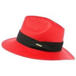 Chapeau de Paille Rouge Théo
