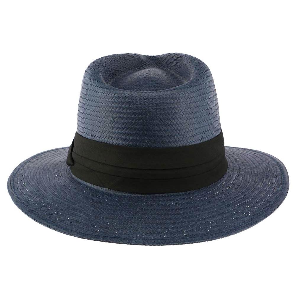 chapeau de paille bleu marine th o esprit panama homme. Black Bedroom Furniture Sets. Home Design Ideas