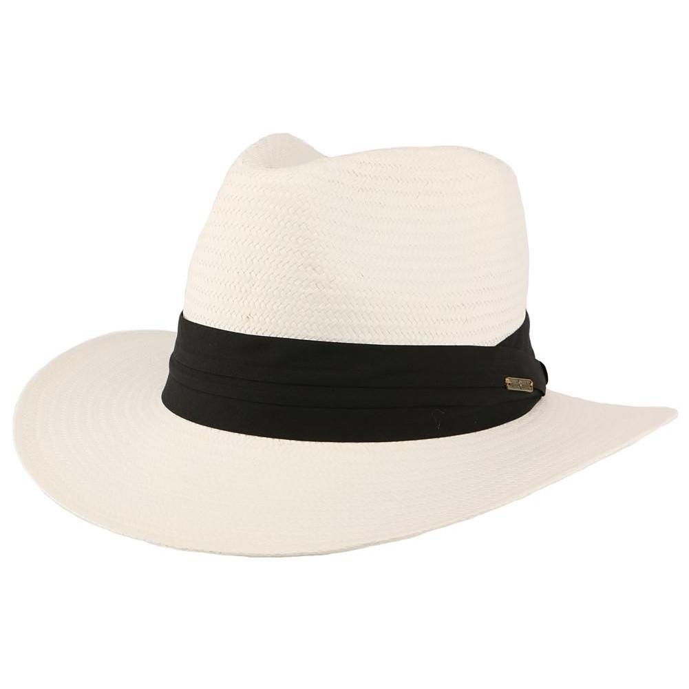 vente chapeau de paille blanc th o mode panama homme. Black Bedroom Furniture Sets. Home Design Ideas