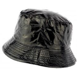 Chapeau de Pluie Noir Maud doublé Polaire
