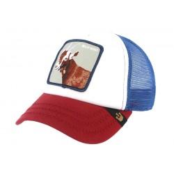 Casquette Baseball Bleu blanc Rouge Hickory Stick Goorin Bros