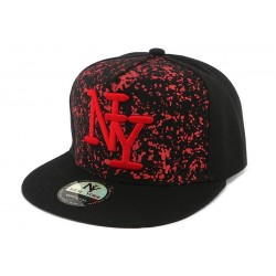 Snapback Noir tag Rouge Trax