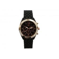 Montre Bracelet Métal Noir Cadran Doré Blacksmart