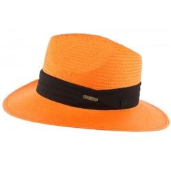 Chapeau de Paille Orange Théo