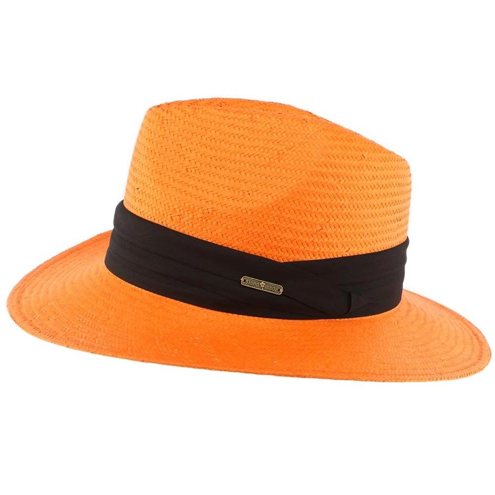 vente chapeau de paille orange th 233 o fedora 233 t 233 fait livr 233 48h
