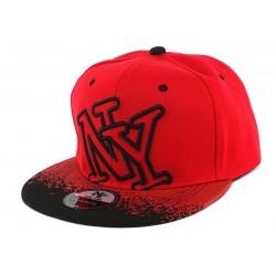Casquette NY Rouge et Noir Tag