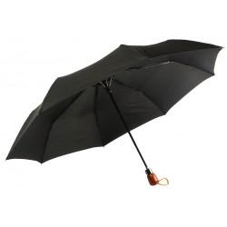 Parapluie Automatique Noir Poignée Bois