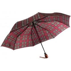 Parapluie Automatique Rouge Bordeaux et Vert Fantaisie