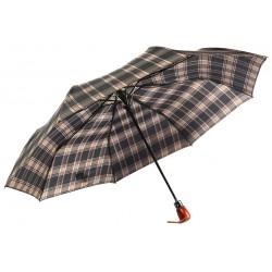 Parapluie Automatique Marron et Noir Fantaisie