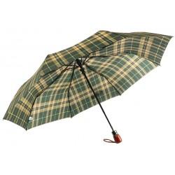 Parapluie Automatique Vert et Beige Fantaisie
