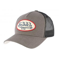Casquette Trucker Grise Usa Von Dutch
