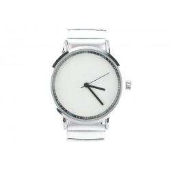 Montre Femme bracelet blanc cadran acier Lola