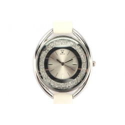 Montre Femme fin bracelet cuir Ecru Star