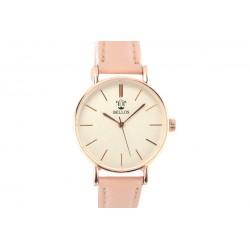 Montre Femme bracelet cuir rose Carla