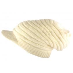 Casquette Bonnet Rasta Blanc Cassé Kaya