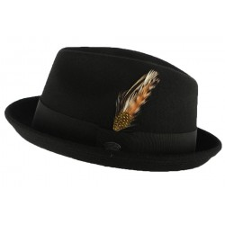 Chapeau Pork Pie Noir Cloyd par Bailey
