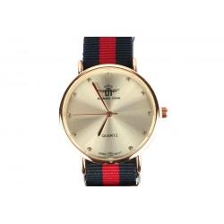 Montre Femme bracelet tissu noir et rouge Milana
