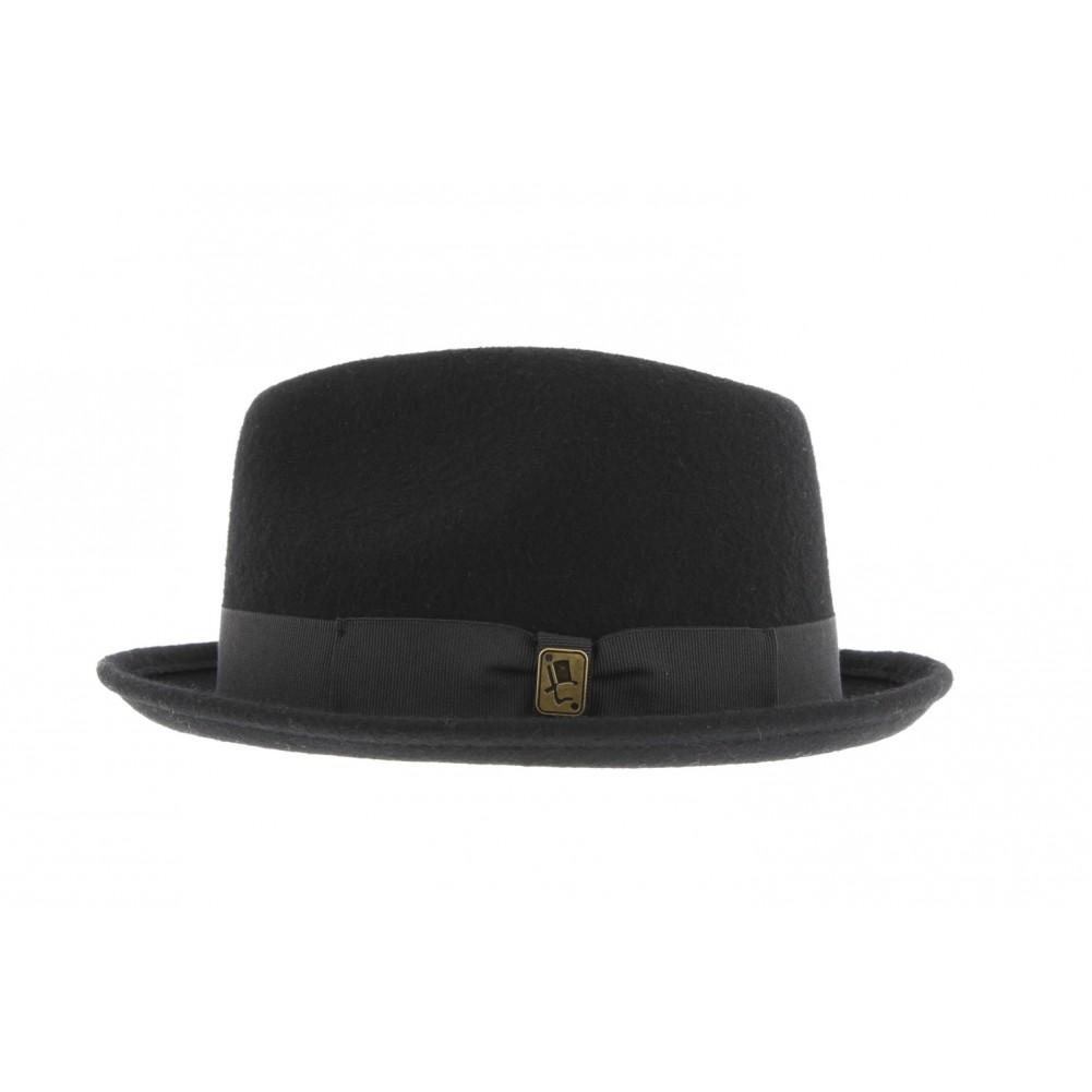 chapeau pork pie noir broadway herman achat chapeau mode livr 48h. Black Bedroom Furniture Sets. Home Design Ideas