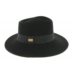 Chapeau Fedora Femme Noir Curtis par Herman