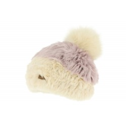 Bonnet Fourrure Lapin Beige Accola Herman