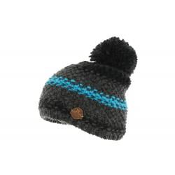 Bonnet Pompon Noir et Bleu Vercors R Mountain