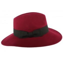 Grand chapeau Bordeaux femme Feutre Ségur