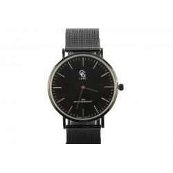 Montre Homme Noire bracelet maille milanaise Xek