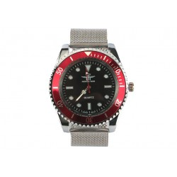 Montre Maille Milanaise Sport Rouge Brera