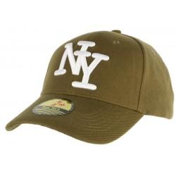 Casquette Baseball NY Vert kaki