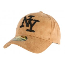 Casquette Baseball NY Camel façon daim