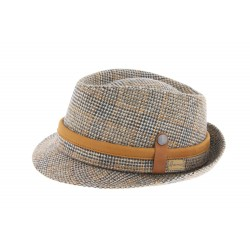 Chapeau Trilby beige en tweed Defer Herman