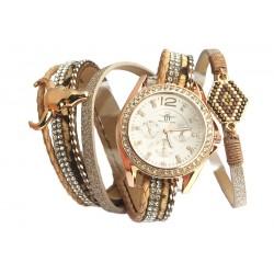 Montre femme bracelet double Doré Mylta