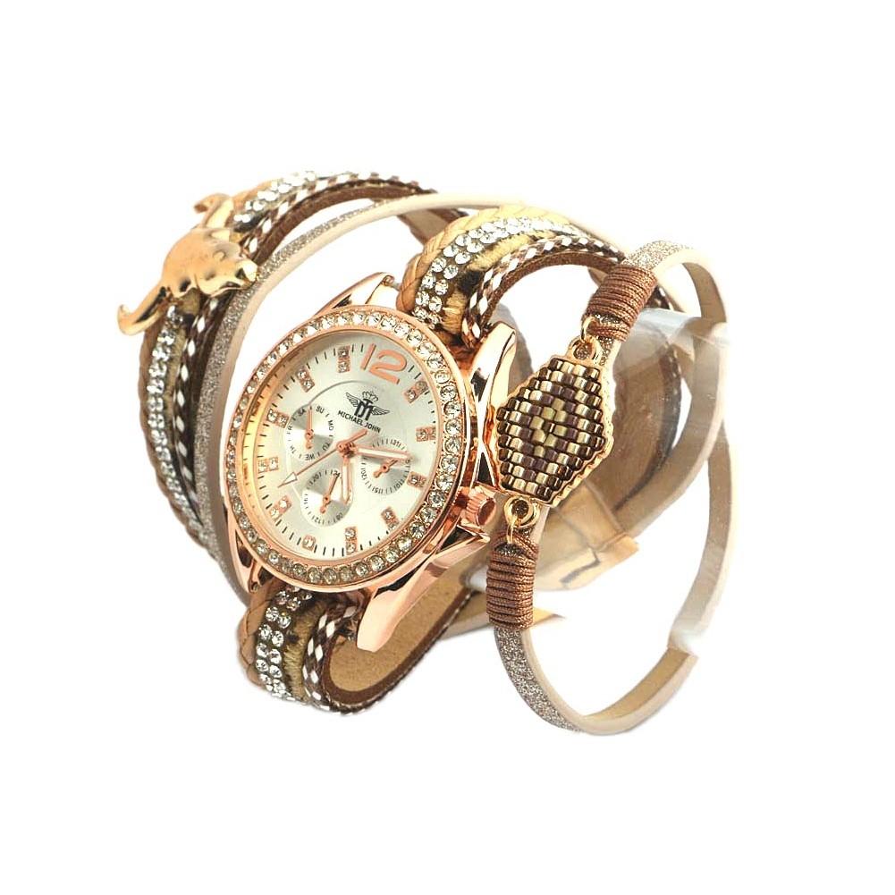 montre bracelet double dor mylta montre fantaisie femme livr en 48h. Black Bedroom Furniture Sets. Home Design Ideas