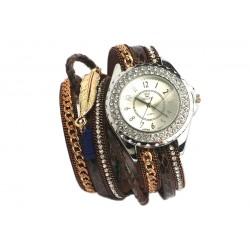 Montre bracelet fantaisie Marron Lorya
