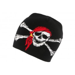 Bonnet Biker Noir Pirate