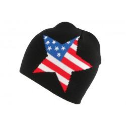 Bonnet Biker Noir étoile Texas
