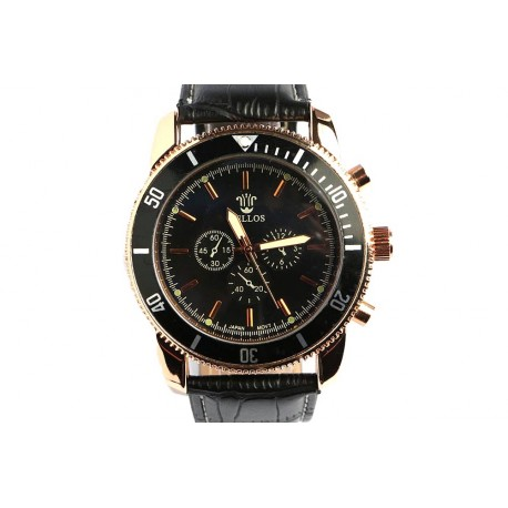 grande montre noire homme jackman montre bracelet cuir. Black Bedroom Furniture Sets. Home Design Ideas