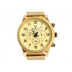 Grosse montre dorée fashion Baillif