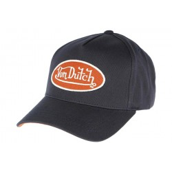Casquette Von Dutch Bleu et Orange Aaron