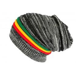 Bonnet rasta noir et blanc Jamaïque