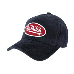 Casquette Von Dutch Bleu en Velours Peter