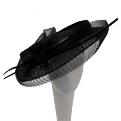 Chapeau Mariage Noir Pletane par Céline Robert