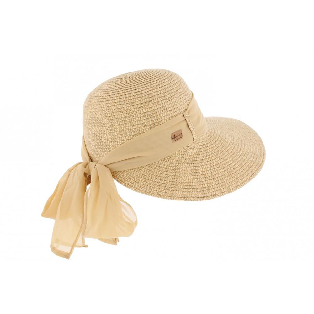 chapeau femme beige ylia herman casquette paille mode livr en 48 h. Black Bedroom Furniture Sets. Home Design Ideas