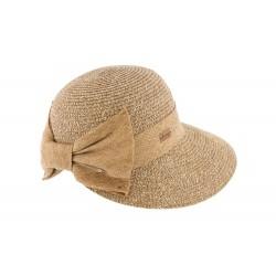 Chapeau de paille femme beige Vylla Herman