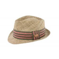 Chapeau de paille naturelle rouge Quince Herman