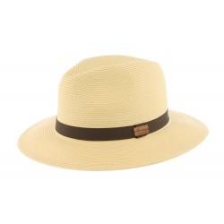 Grand chapeau paille beige Macbird