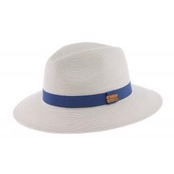 Grand chapeau paille gris Macbird